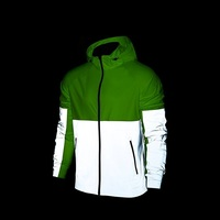 Sallei Perspicuousness Breathable High Quality For 3m Reflective Patchwork Trench Coat Jacket