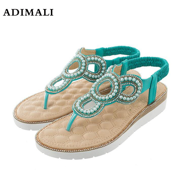 59176fa9afba11 Quality Sexy Womens Flip flop Slingback Buckle Rhinestones Crystal Flowers  Colorful Decor Beach Casual Sandals Flat Hollow Shoes