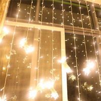 3M X 3M 300 LED Curtain Icicle String Lights Christmas New Year Wedding Party Decoration Outdoor