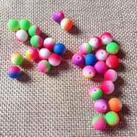 100 piezas Circular de perlas de 8mm de color caramelo, cuentas de collar de pulsera de pelos pendientes DIY hecho a mano con cuentas material