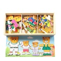 Lindo Oso De Madera Montessori Bloque Caliente de Dibujos Animados Juguetes de Bloques de Madera Juguetes Para Niños Juguetes Educativos Para Niños De Madera Magnética