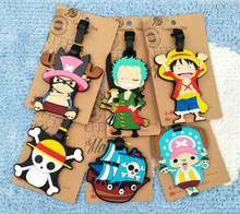 Luggage Tag Travel Accessories Silica Gel Anime One Piece Luffy Chopper Ballet Suitcase ID Address Holder Baggage Boarding Tag(China)
