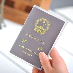 ETya جديد شفافة PVC النساء الرجال جواز سفر غطاء حقيبة للماء واقية كم مع ID الائتمان حامل بطاقة أكياس