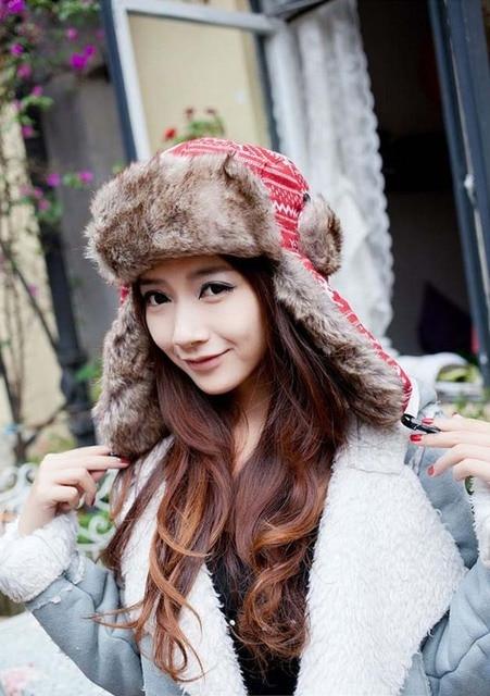 2013 best seller knitted trapper hat  woman winter earflap hat russian hat with deer pattern bomber hat