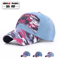 2016 New  baseball cap men's spring and autumn Korean outdoor hat male ladies Cowboy Hat Visor retro camouflage hat B-1674
