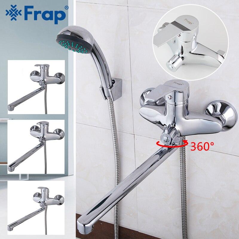 FRAP Shower System 1 set bathroom bathtub faucet shower head set bath mixer shower brass waterfall