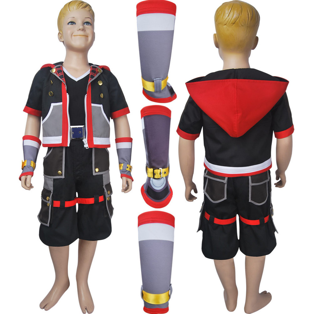 Kids Kingdom Hearts III 3 Sora cosplay halloween costume X'mas christmas birthday Valentine's day gift toys make-up game