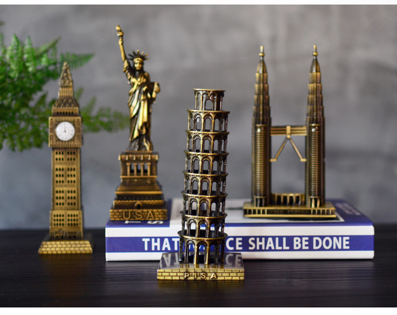 Vintage Home Decor World famous landmark Eiffel Tower in Paris building model metal crafts gifts ornaments Desktop decorations 13
