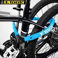 ETOOK 100cm Steel Bicycle Chain Lock Anti theft Castle Key Lock Anti Drilling MTB Road Bike Mountain Safety Chain Lock 4 Color