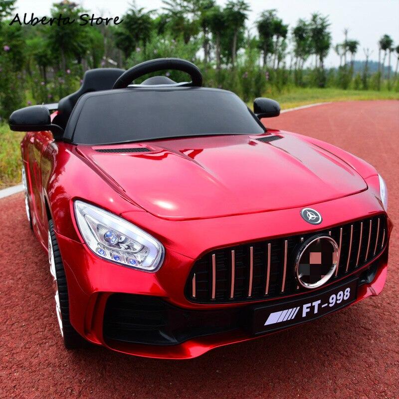 Paseo en el coche de los nuevos niños 2,4G Control remoto coche eléctrico de cuatro ruedas de accionamiento doble educación juguete de bebé niño super regalo de coche