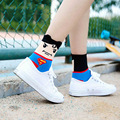 Summer style Men& Women's Cotton Socks Movie Character Superman Batman Captain America Superheroes Cartoon Socks