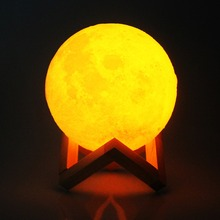 3D Print Rechargeable Moon Light Lamp Touch Switch LED Lunar Night Children Bedroom Christmas Home Decor
