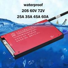 20S 30A 40A 50A 60A 60V 72V płyta zabezpieczająca baterię litową BMS z równowagi 64V fosforan litowo żelazowy li jonowy akumulator 18650 LiFePO4