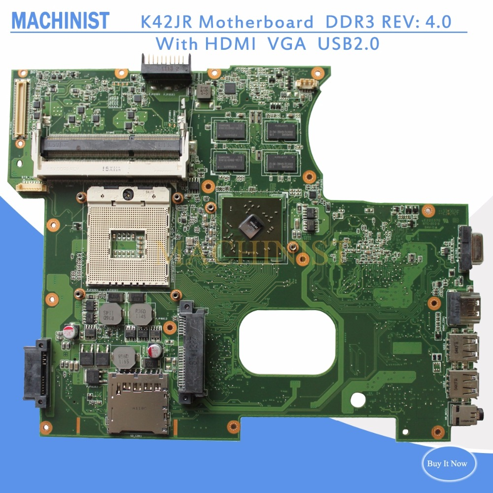 K42JR Laptop motherboard REV4 0 512 m For ASUS K42JZ K42JE k42JK motherboard K42JR Mainboard K42JR