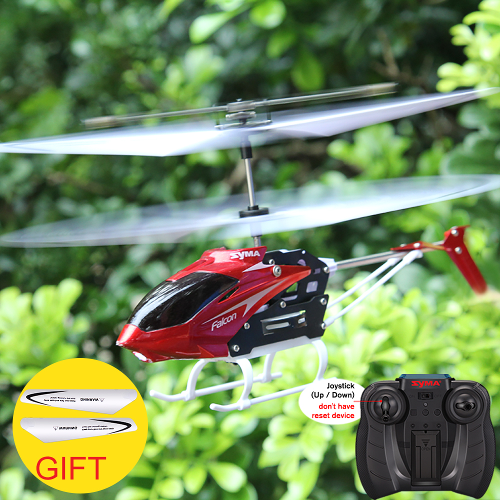 SYMA Electric Helicopter Flying-Toys Remote-Control Mini Shatterproof W25 Model Red Indoor