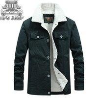 100% Cotton Warm Thick Men Jackets and Coats Fur Plus Velvet Winter Parka Windbreaker Causal Brand Men's Coat Breathable