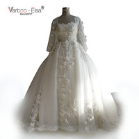 VARBOO_ELSA Arabe De Luxe Fleur De Mariage Robe 2017 Nouvelle robe de Bal Fower de Formation de Luxe Robe De Mariée Robes De Novia Casamento