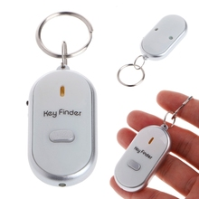 JAVRICK Sound Whistle Control White LED Key Finder Locator Find Lost Keychain Keys Chain T15