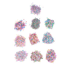 1000Pcs Plasticine Addition Soft Ceramic Fruit Mixed Fruit Leaves DIY Clear Slime Clay Nail Jewelry Mobile Slime DIY Supplies(China)