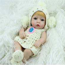 цена на Soft Silicone Reborn Doll 28cm Vinyl Girl Doll Realistic Reborn sleep lovely Baby Doll play house toy for Children Birthday Gift
