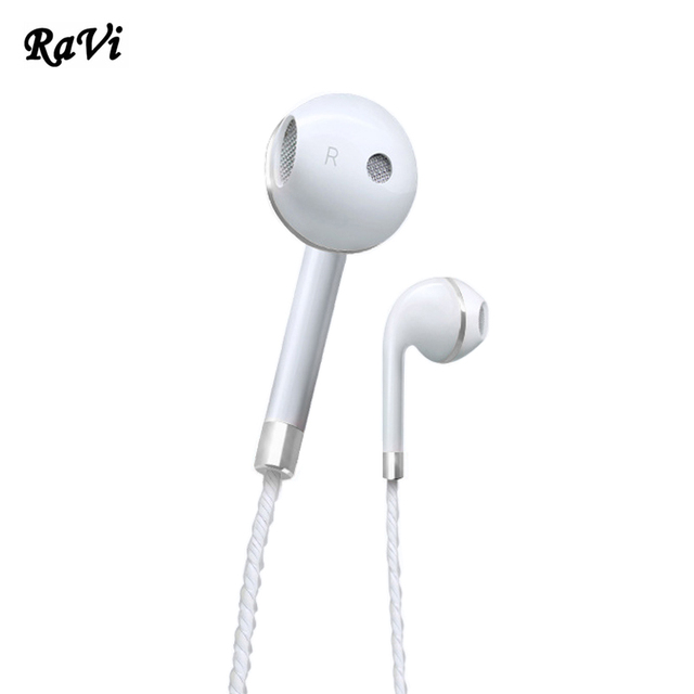 8d839d04183 RAVI Earphone For Apple Earbuds In-Ear Headphones Stereo Earphones Headset  with Mic For Samsung iPhone 5 5S 6 6S fone de ouvido