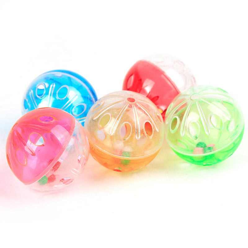 New Cute Tinkle Bell Baby Toy Plastic Kitten Playing Balls Funny Toys Random Color @Z254 88 YJS Dropship