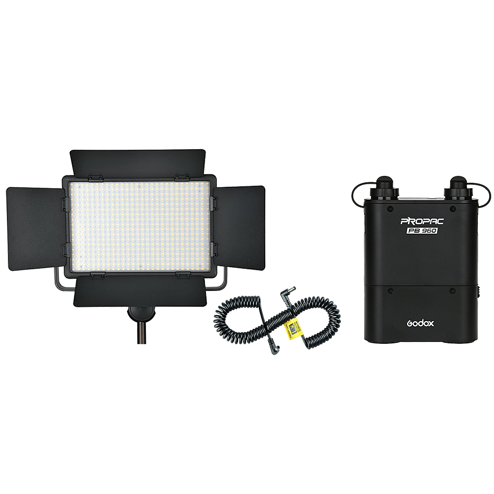Godox LED 500W Video Light + PB960 Battery Pack + LX Power Cable Kit For Photography godox professional led video light