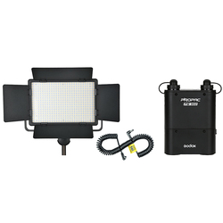 Godox LED 500W Video Light + PB960 Battery Pack + LX Power Cable Kit For Photography