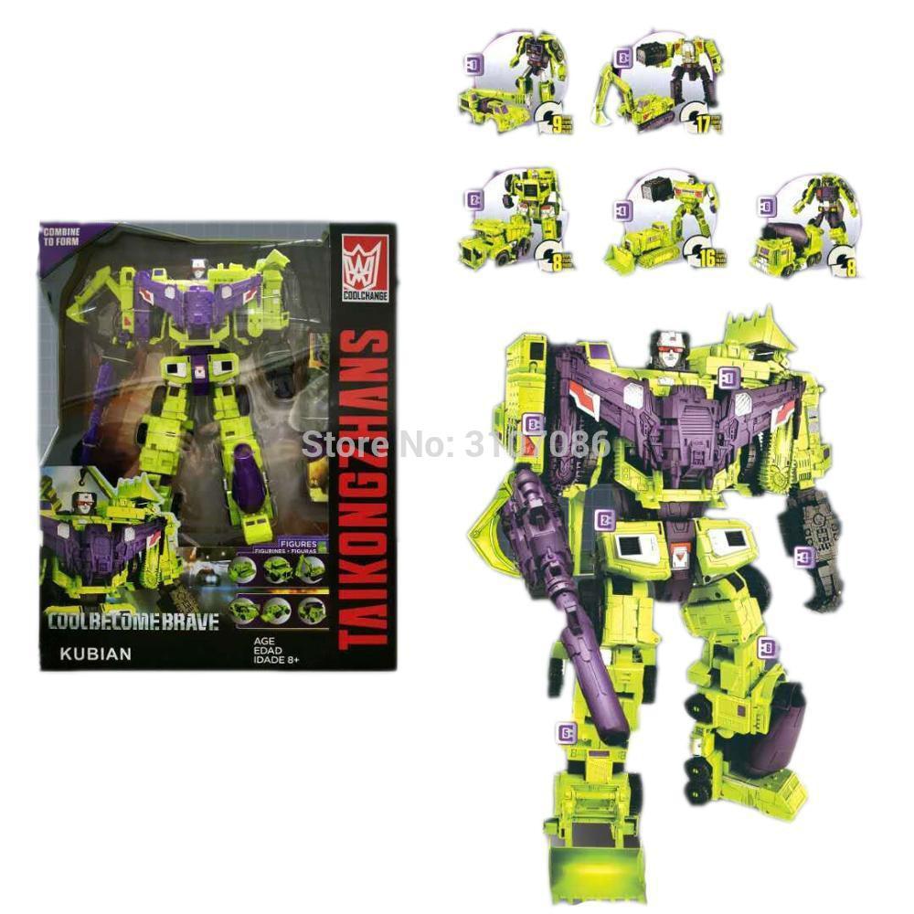 HZX transformacji Devastator G1 IDW 6IN1 Oversize figurka zabawkowe roboty z Retail Box w Figurki i postaci od Zabawki i hobby na  Grupa 1