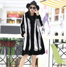 New arrival classic color block stripe coat
