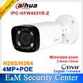 Original Dahua IPC-HFW4431R-Z substituir IPC-HFW4300R-Z lente motorizada VF H.265 IP POE rede bala câmera 4MP DH-IPC-HFW4431R-Z