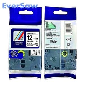 Image 1 - 5 PACK TZe 231 brother tze tape Black on White Tape 12mmx8M TZ 231 TZE 231 Compatible for Brother TZ PT H105 PT550 PT1000