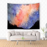 Colorful Sky Tapestry Psychedelic tapestry mandala Wall Hanging For Home Decor Background wall Mandalas para parede 200x150cm