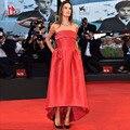 Selena Gomez Barato Vestidos Off The Shoulder Simples Celebridade Do Tapete Vermelho Vestidos de Noite 2016 Vestido de Festa Robe De Soirée Courte