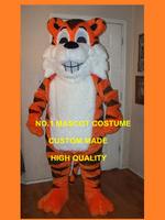 Happy Grinning Tiger Mascot Costume Cute Wild Animals Cat Theme Mascotte Carnival Anime Cosply Costumes Fancy Dress KITS 1812