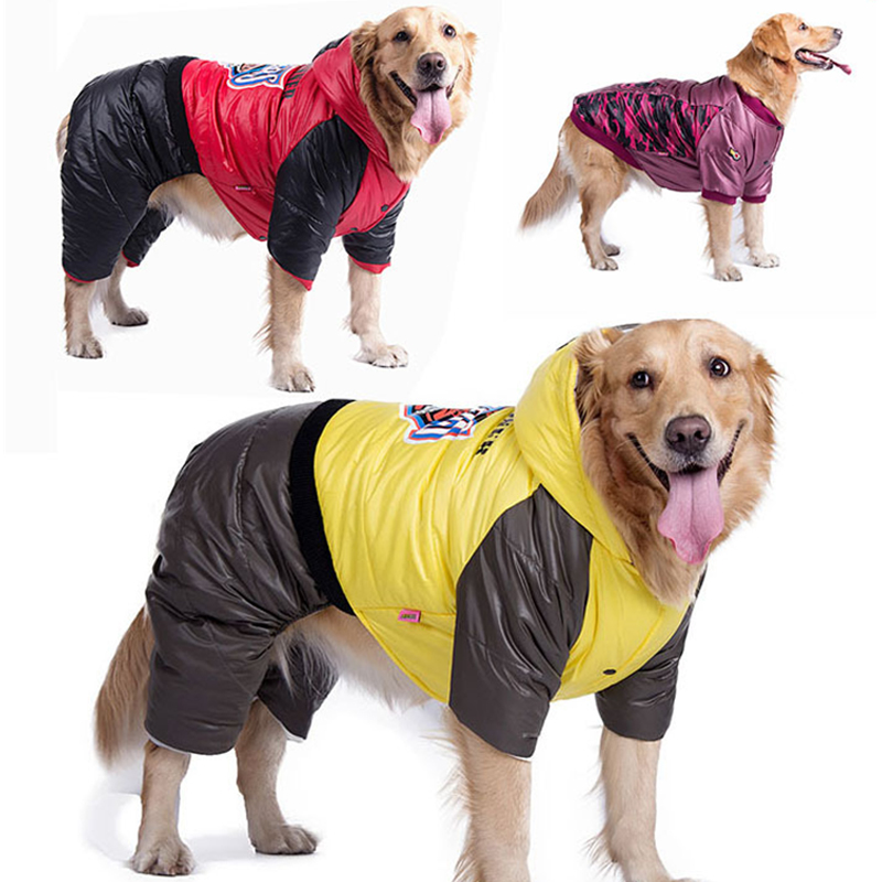 Christmas Pet Clothes Big Dog Clothes Winter Warm Down Jacket Sport Sweater Large Dog Coat For Golden Retriever DogL CDC032
