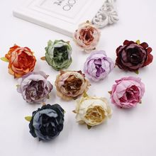 5pcs 5cm New Artificial Flower Peony Wedding Decoration DIY Wreath Garland