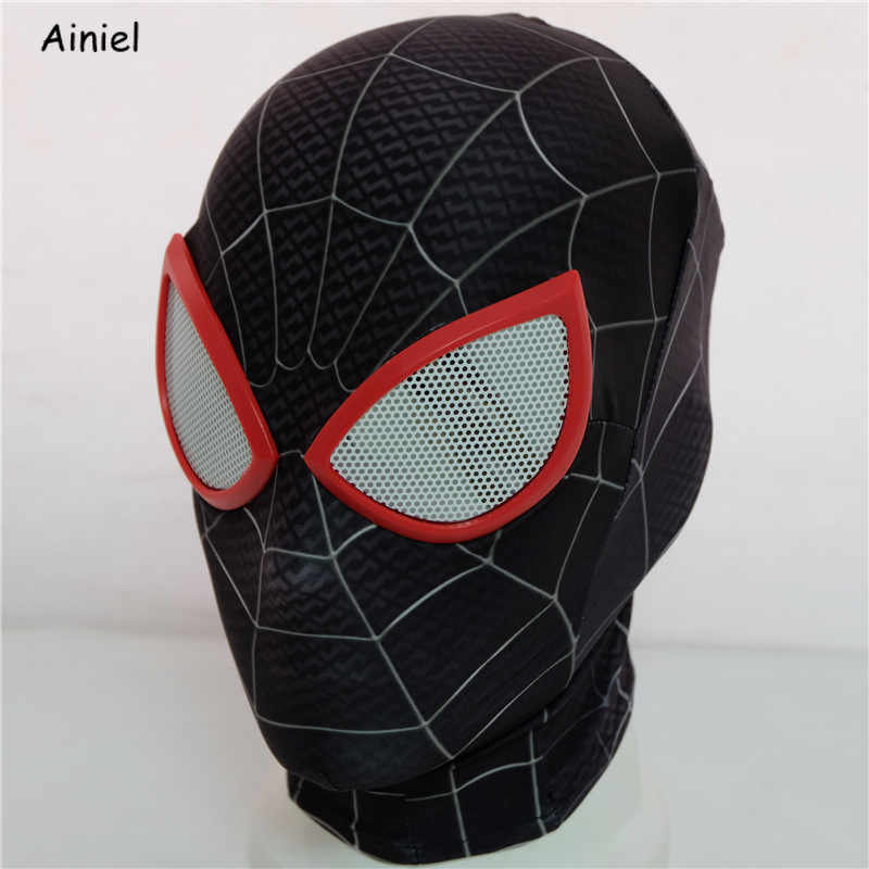 Spider Man: Into the Spider-Verse Miles Morales Mask Cosplay Peter Parker Costume Superhero Zentai Adults  Spiderman Homecoming