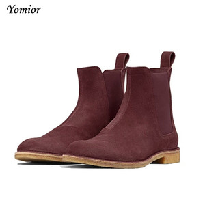 Image 2 - Handmade Men Chelsea Boots Vintage Casual Boots All matching Kanye West Spring Boots Luxury Platform Wedding Party Shoe Sneakers