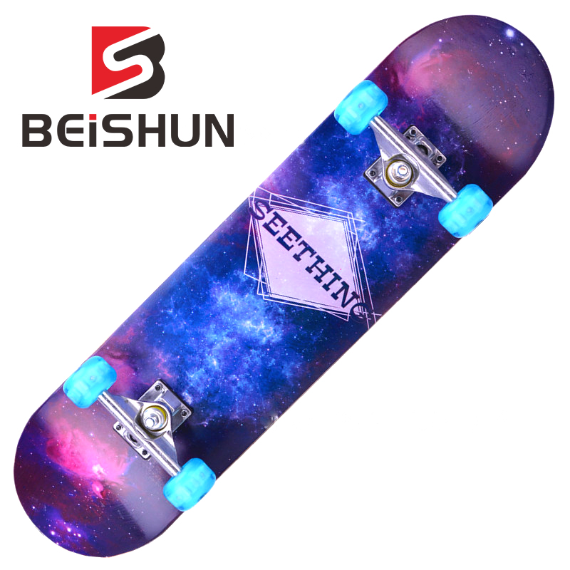 Professional Four-wheeled Skateboard Men and Women Double Rocker Adult Youth Scooter