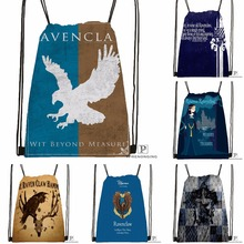 Custom Harry Potter Ravenclaw Drawstring Backpack Bag Cute Daypack Kids Satchel Black Back 31x40cm 180531 03