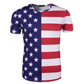 New Arrival Men Printing USA Flag T-shirt Short Sleeve Male Fashion Casual Slim fit T Shirt Brand Clothing t shirt men