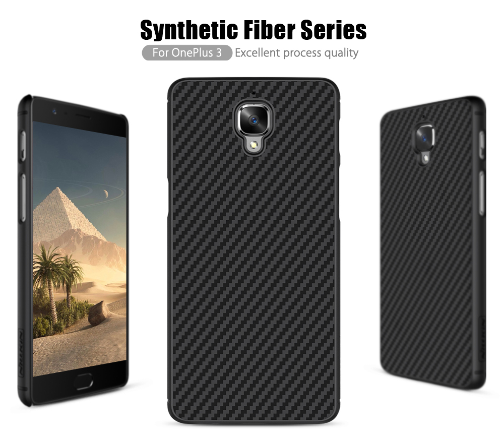 best website 245d2 e0239 US $9.99 |Nillkin Synthetic fiber phone Case oneplus 3 oneplus 3T case  oneplus 3 cover Hard Carbon Fiber PP Plastic Back Cover Magnetic on ...