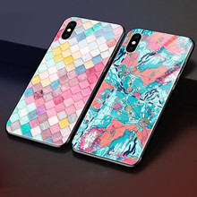 hot deal buy weeyrn full tempered glass 3d case for iphone xs max xs x glossy luxury hard case patterned phone case cover for iphone xs xs