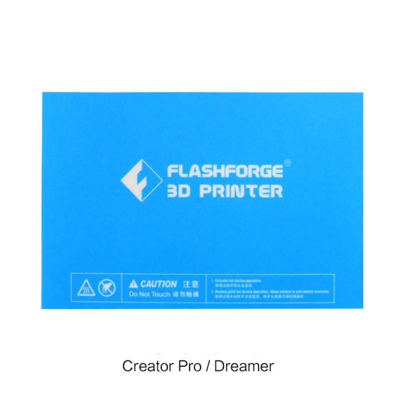 5pcs 232x154mm Flashforge Creator Pro / Dreamer / Dreamer NX 3D Printer Blue Heated Bed Tape Print Sticker Build Plate Tape