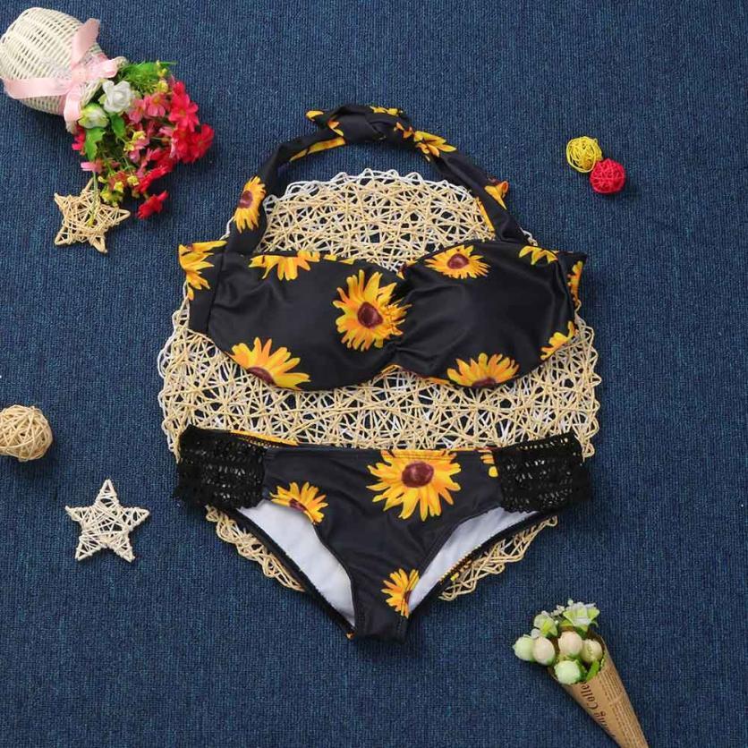 Beautiful Women Bikini Set Swimwear Push-Up Padded Floral Print Bra Swimsuit Beachwear Womens Swimsuits Biquini Swimwear Sets