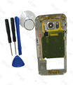 Case para samsung galaxy s6 edge g925f único cartão de ouro versão peças de chassis bezel habitação quadro do meio de metal