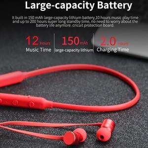 Image 2 - Langsdom BX9 سماعات لاسلكية بشريط حول الرقبة سماعات رياضية مزودة بتقنية البلوتوث سماعات أذن مزودة بخاصية البلوتوث 12h سماعات موسيقى للهاتف