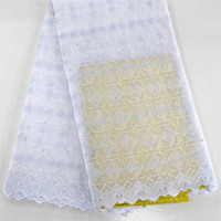 Good Quality Pure Color Elegant Squares And Squares Design African Cotton Lace SYS8 Cheap Price Free