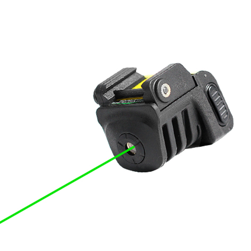 Drop shipping Laserspeed adjustable self defense tactical mini rail mounted pistol green aiming rechargeable laser sight